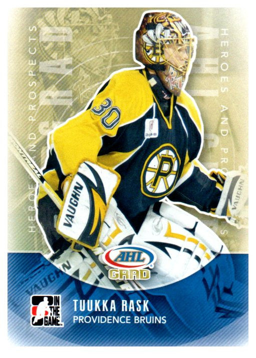 2011-12 In The Game Tuukka Rask Rookie Boston Bruins - JM Collectibles