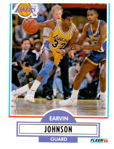 1990 Fleer Erving Magic Johnson Los Angeles Lakers - JM Collectibles