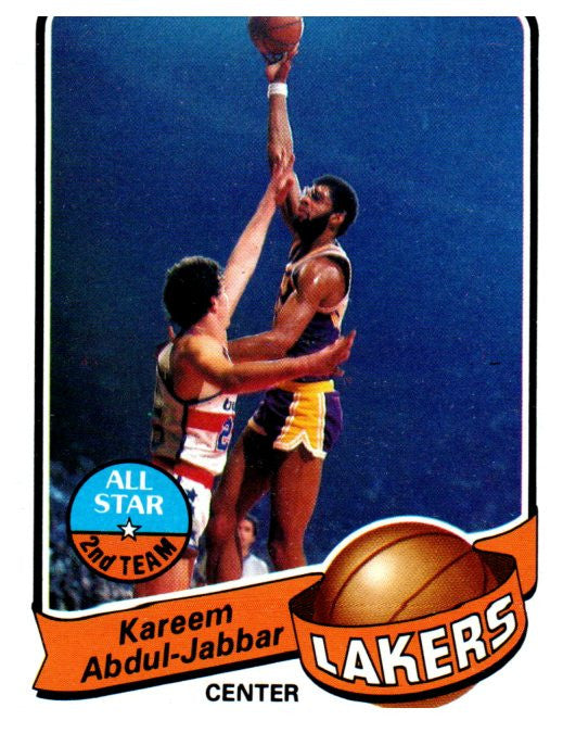 1979-80 Topps Kareem Abdul Jabbar Los Angeles Lakers - JM Collectibles