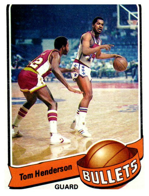 1979-80 Topps Tom Henderson Washington Bullets - JM Collectibles