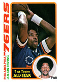 1978-79 Topps Julius Erving All Star Card Philadelphia 76ers - JM Collectibles