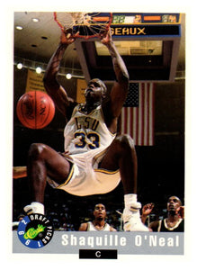 1992 Classic Draft Picks Shaquille O'Neal Rookie Card Orlando Magic - JM Collectibles