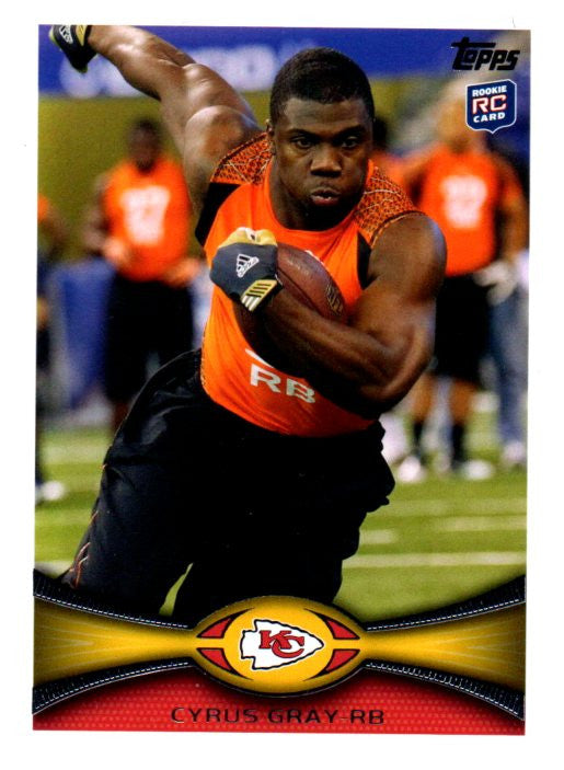 2012 Topps Cyrus Gray Rookie Card Kansas City Chiefs - JM Collectibles
