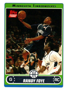 2006-07 Topps Randy Foye Rookie Card Minnesota Timberwolves - JM Collectibles