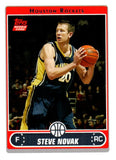 2006-07 Topps Steve Novak Rookie Card Houston Rockets - JM Collectibles
