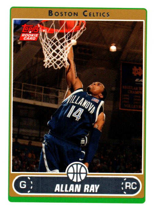 2006-07 Topps Allan Ray Rookie Card Boston Celtics - JM Collectibles
