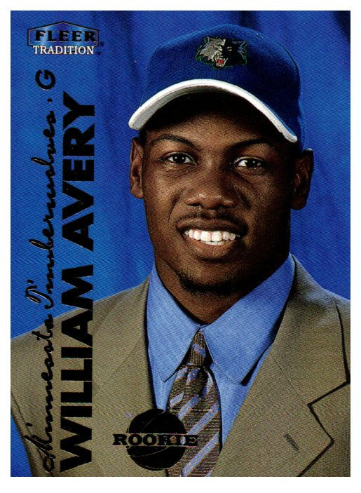 1999-00 Fleer Tradition William Avery Rookie Card Minnesota Timberwolves - JM Collectibles