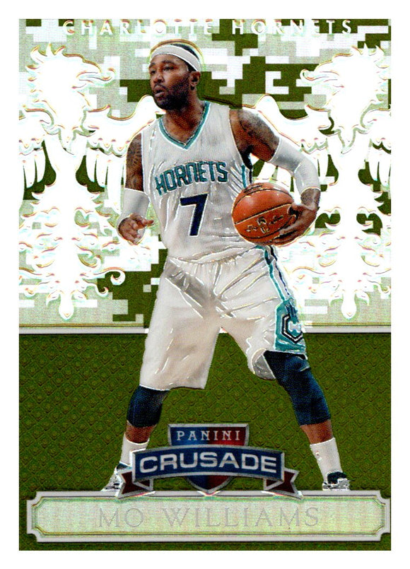 2014-15 Panini Excalibur Crusade Mo Williams Camouflage Charlotte Hornets - JM Collectibles