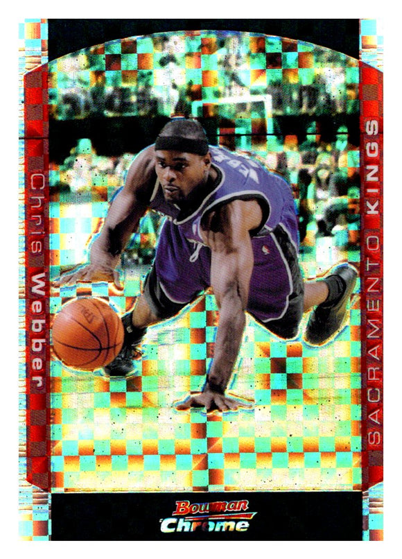 2004-05 Bowman Chrome Chris Webber Xfractor /150 Sacramento Kings - JM Collectibles