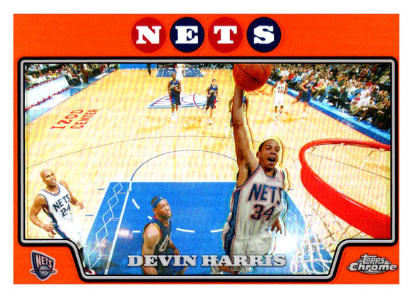 2008-09 Topps Chrome Devin Harris Orange Refractor /499 New Jersey Nets - JM Collectibles