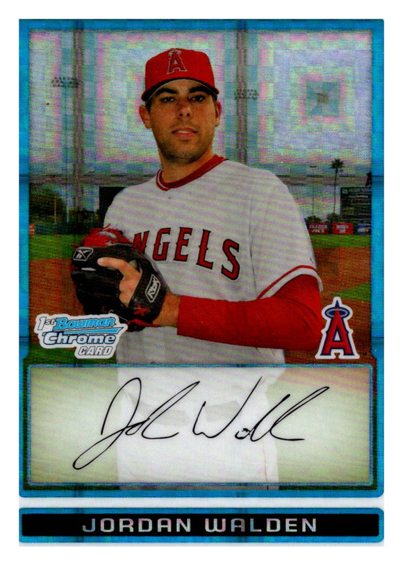 2009 Bowman Chrome Prospect Jordan Walden Xfractor /299 Los Angeles Angels