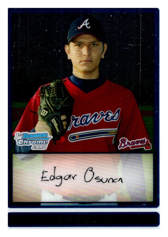 2009 Bowman Chrome Prospect Edgar Osuna Atlanta Braves