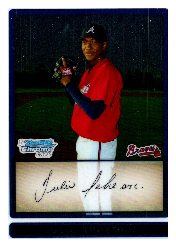 2009 Bowman Chrome Prospect Julio Teheran Atlanta Braves