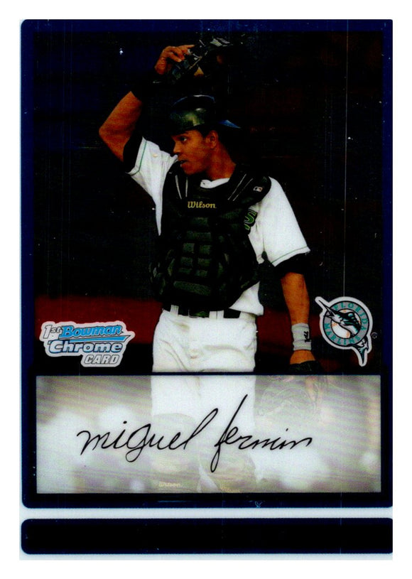 2009 Bowman Chrome Prospect Miguel Fermin Florida Marlins