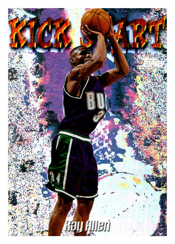 1998-99 Topps Ray Allen Kick Start Milwaukee Bucks - JM Collectibles