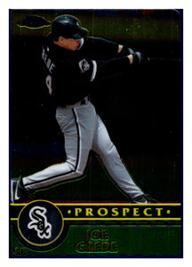 2003 Topps Chrome Traded Joe Crede Prospects Card Chicago White Sox