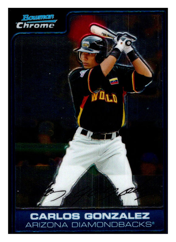 2006 Bowman Chrome Draft Future's Game Prospects Carlos Gonzalez Arizona Diamondbacks