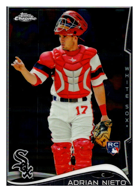 2014 Topps Chrome Update Adrian Nieto Rookie Card Chicago White Sox