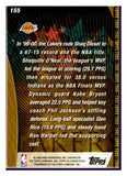 2000-01 Topps NBA Team Championship Los Angeles Lakers