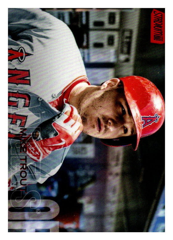 2018 Topps Stadium Club Red Foil Mike Trout Los Angeles Angels