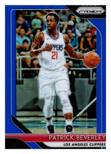2018-19 Panini Prizm Prizms Blue /199 Patrick Beverley Los Angeles Clippers