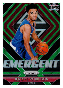 2018-19 Panini Prizm Emergent Prizms Green Jerome Robinson Los Angeles Clippers