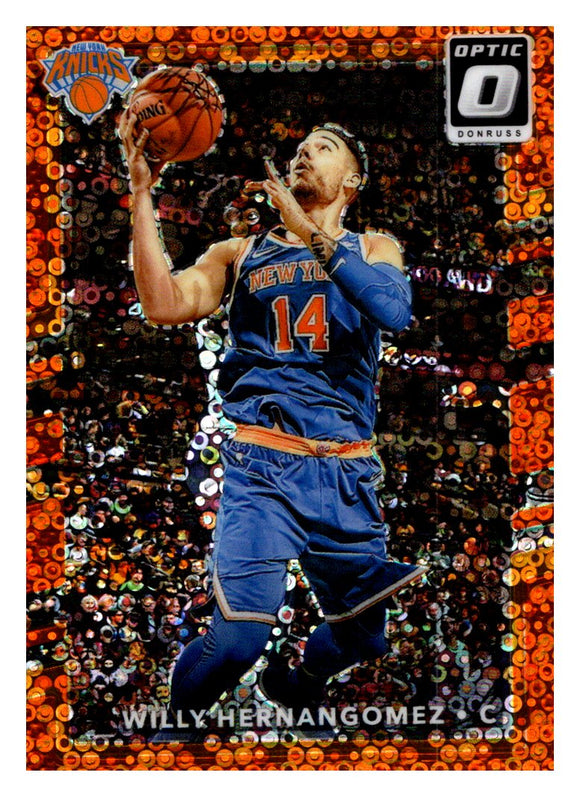 2017-18 Donruss Optic Fast Break Orange /193 Willy Hernangomez New York Knicks