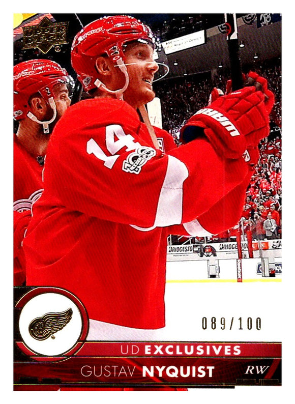 2017-18 Upper Deck Exclusive /100 Gustav Nyquist Detroit Red Wings