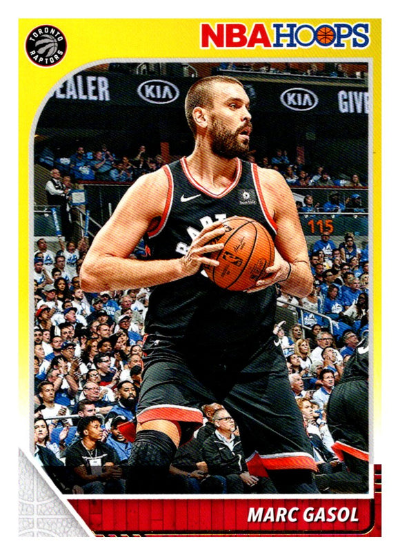 2019-20 Panini Hoops Marc Gasol Yellow Toronto Raptors