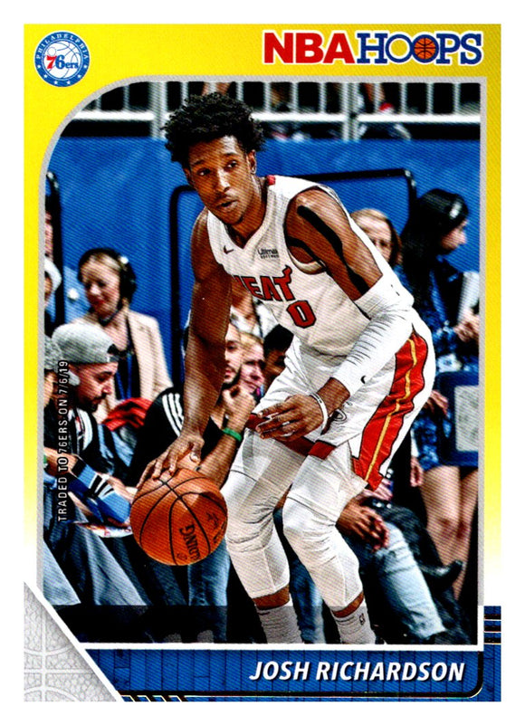 2019-20 Panini Hoops Josh Richardson Yellow Philadelphia 76ers