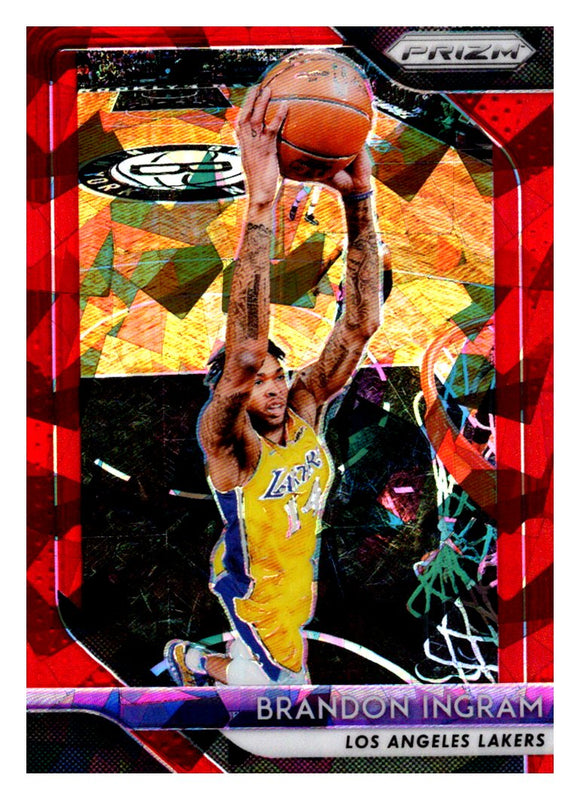 2018-19 Panini Prizm Prizms Red Ice Brandon Ingram Los Angeles Lakers
