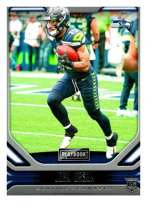 2019 Panini Playbook John Ursua Rookie Card Seattle Seahawks