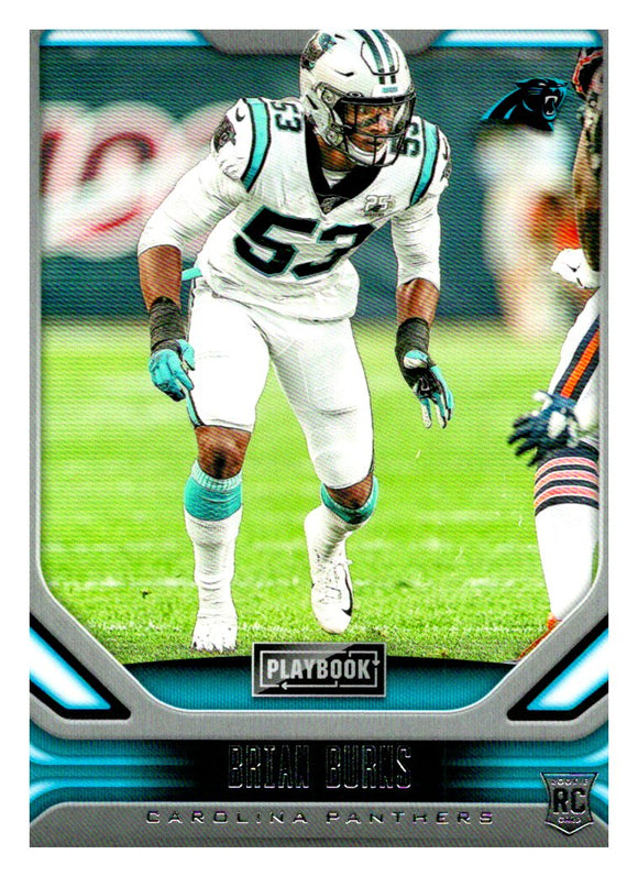2019 Panini Playbook Brian Burns Rookie Card Carolina Panthers