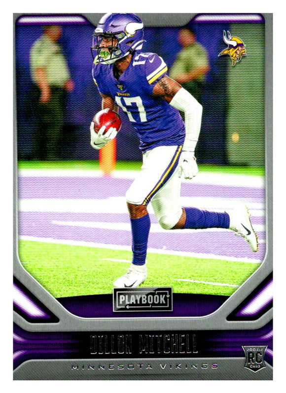 2019 Panini Playbook Dillion Mitchell Rookie Card Minnesota Vikings