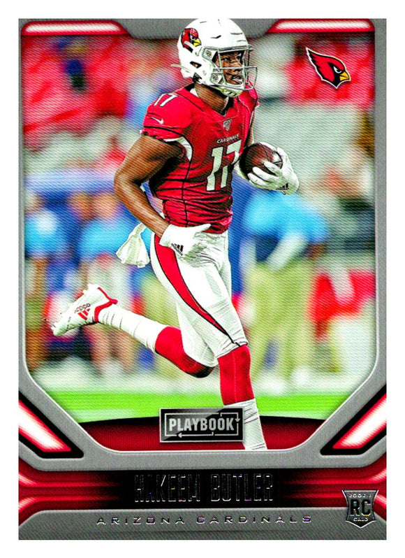 2019 Panini Playbook Hakeem Butler Rookie Card Arizona Cardinals