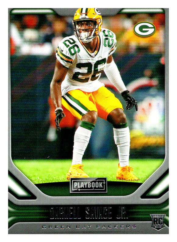 2019 Panini Playbook Darnell Savage Jr Rookie Card Green Bay Packers