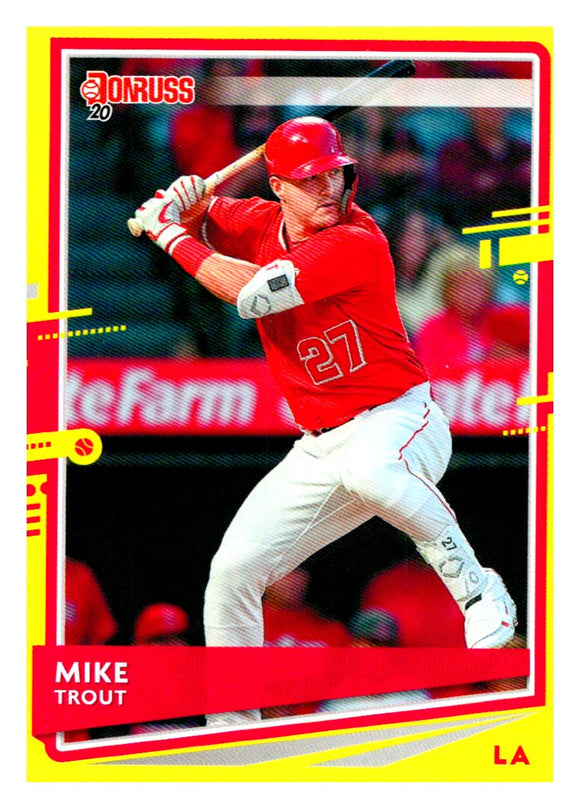 2020 Donruss Yellow Mike Trout Los Angeles Angels