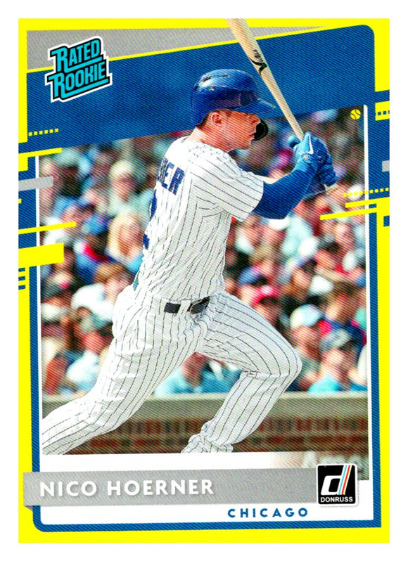 2020 Donruss Yellow Nico Hoerner Rated Rookie Chicago Cubs