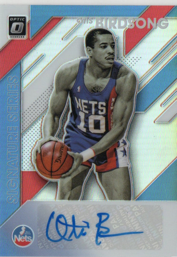 2019-20 Donruss Optic Signature Series Holo Otis Birdsong New Jersey Nets