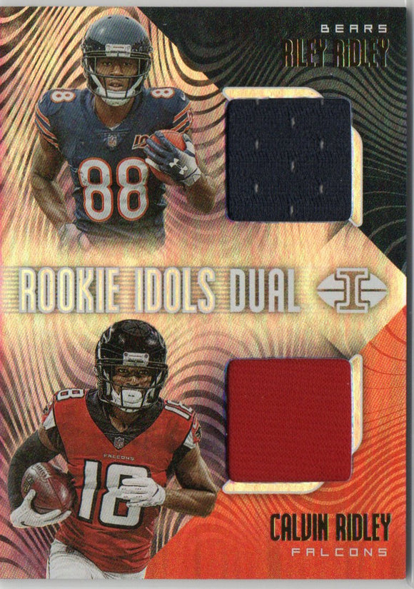 2019 Panini Illusions Rookie Idols Dual Memorabilia Calvin Ridley/Riley Ridley Chicago Bear Atlanta Falcons