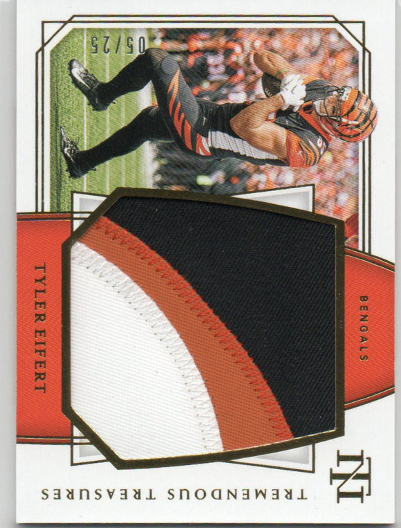 2019 Panini National Treasures Tremendous Treasures Prime /25 Tyler Eifert Cincinnati Bengals