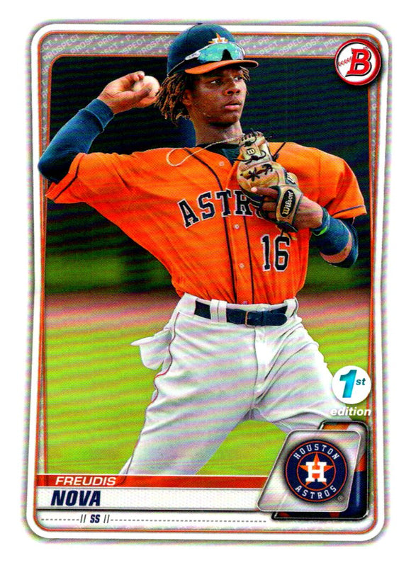 2020 Bowman 1st Edition Freudis Nova Houston Astros