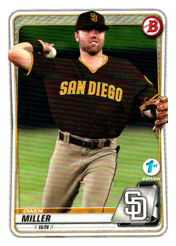 2020 Bowman 1st Edition Owen Miller San Diego Padres