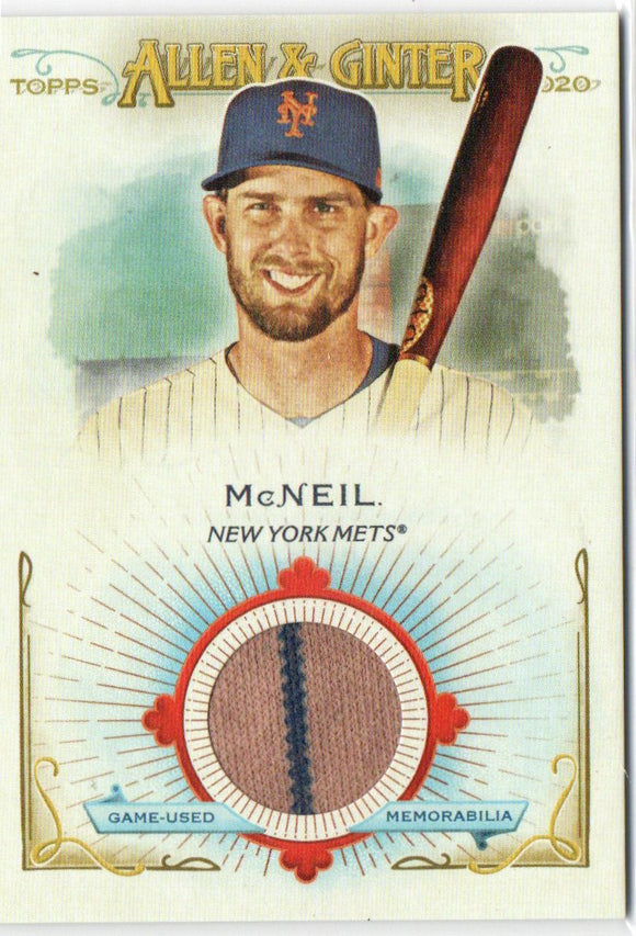 2020 Topps Allen and Ginter Relics B Short Print Jeff McNeil New York Mets