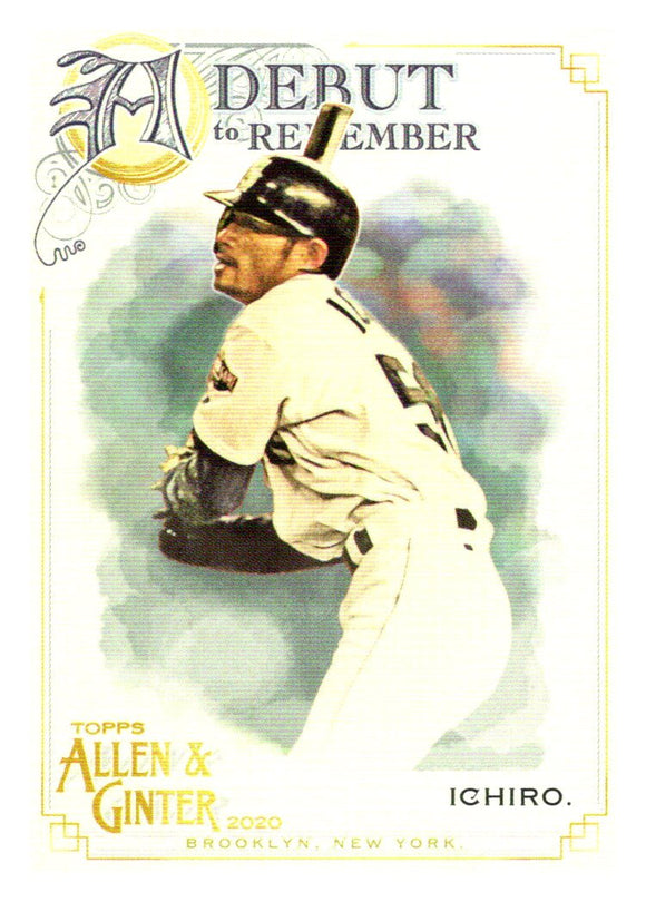 2020 Topps Allen and Ginter A Debut to Remember Ichiro Suzuki Seattle Mariners