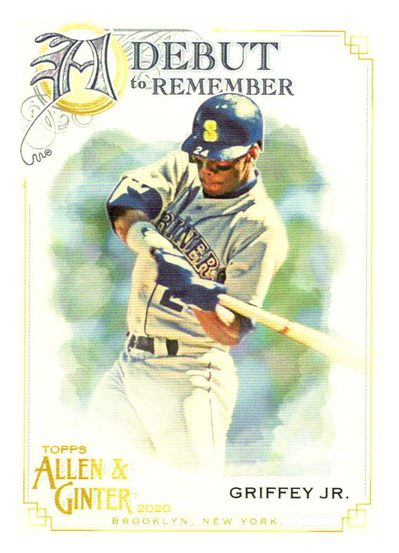 2020 Topps Allen and Ginter A Debut to Remember Ken Griffey Jr Seattle Mariners
