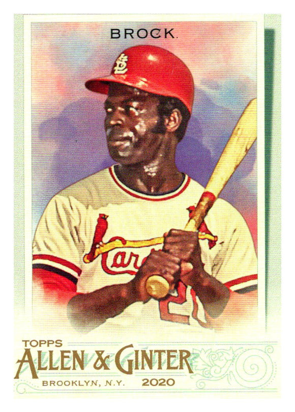 2020 Topps Allen and Ginter Short Print Lou Brock St Louis Cardinals