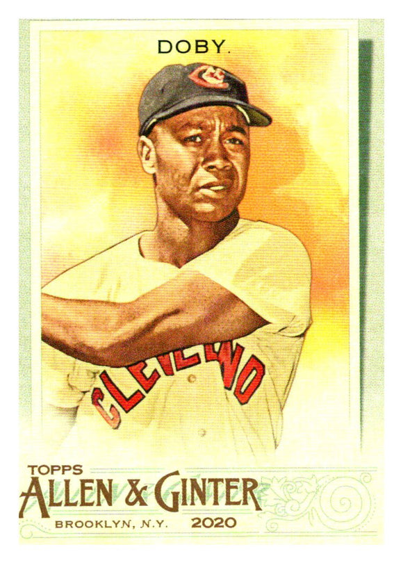 2020 Topps Allen and Ginter Larry Doby Cleveland Indians