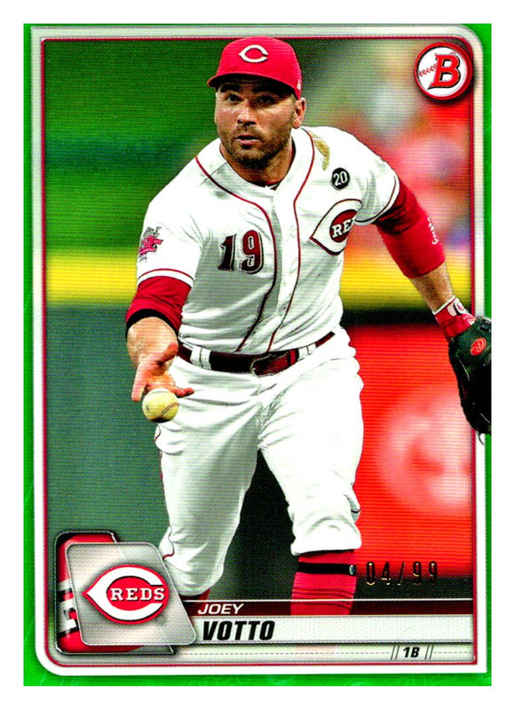 2020 Bowman Green /99 Joey Votto Cincinnati Reds