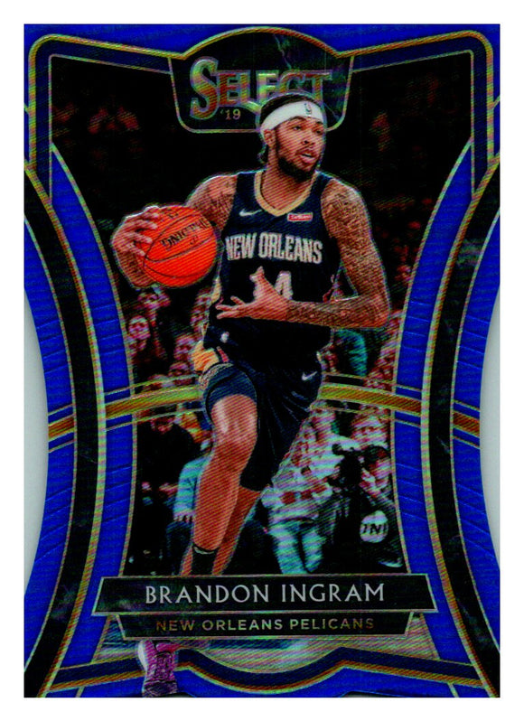 2019-20 Panini Select Die Cut Blue Prizm /249 Brandon Ingram New Orleans Pelicans